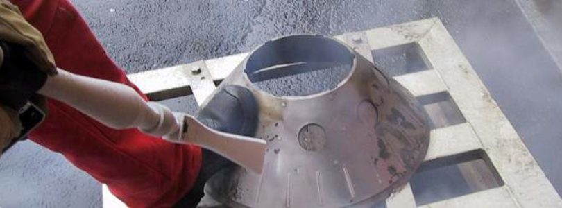 Очистка сухим льдом стальных изделий, бластинг