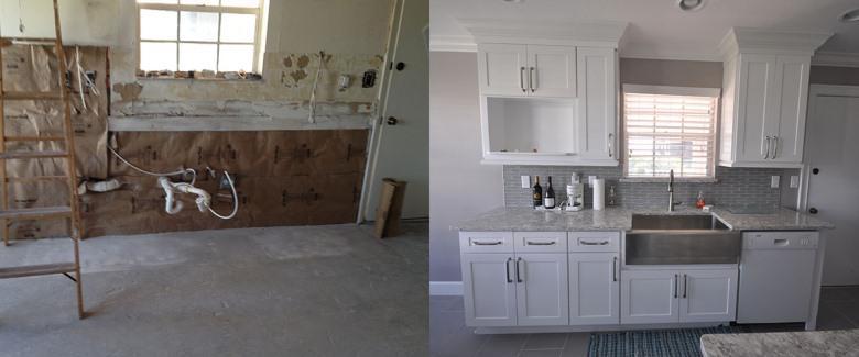 Кухня до и после