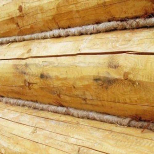 Конопатка деревянного сруба