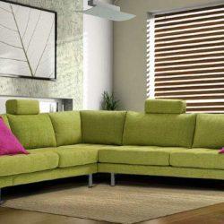 Интерьер комнаты в зеленых тонах