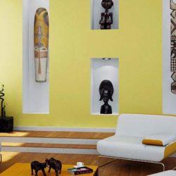 Интерьер комнаты в желтом цвете