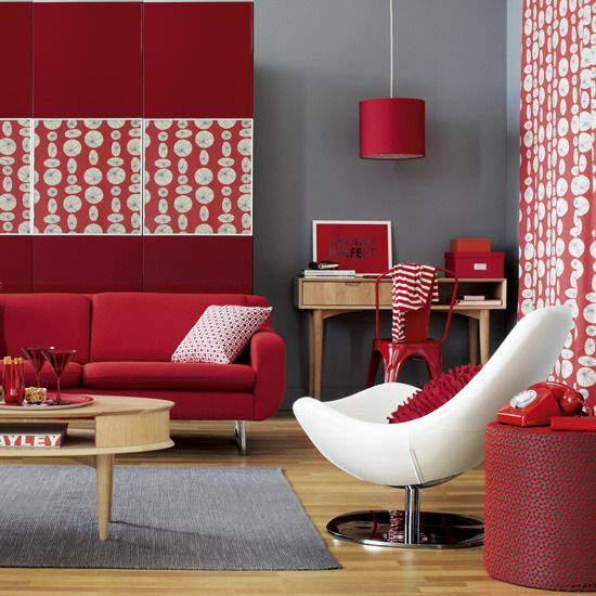 Интерьер в красном цвете